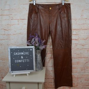 St. John Goat Suede Leather Pants EUC Size 12 B6